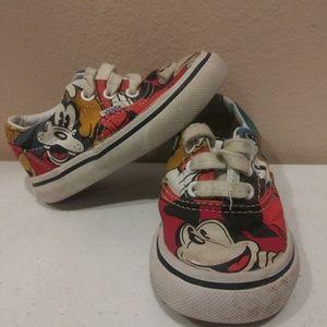 Disney Vans Toddler Micky Mouse & Friends Size 4.0